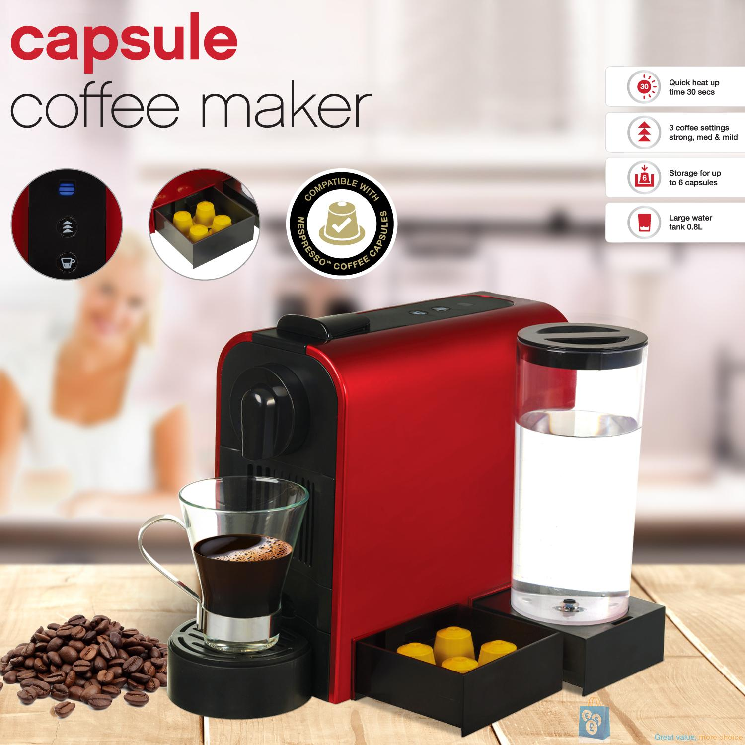 Platinum Capsule Coffee Maker : Nespresso Compatible Capsule Coffee Maker by TEXET eBay